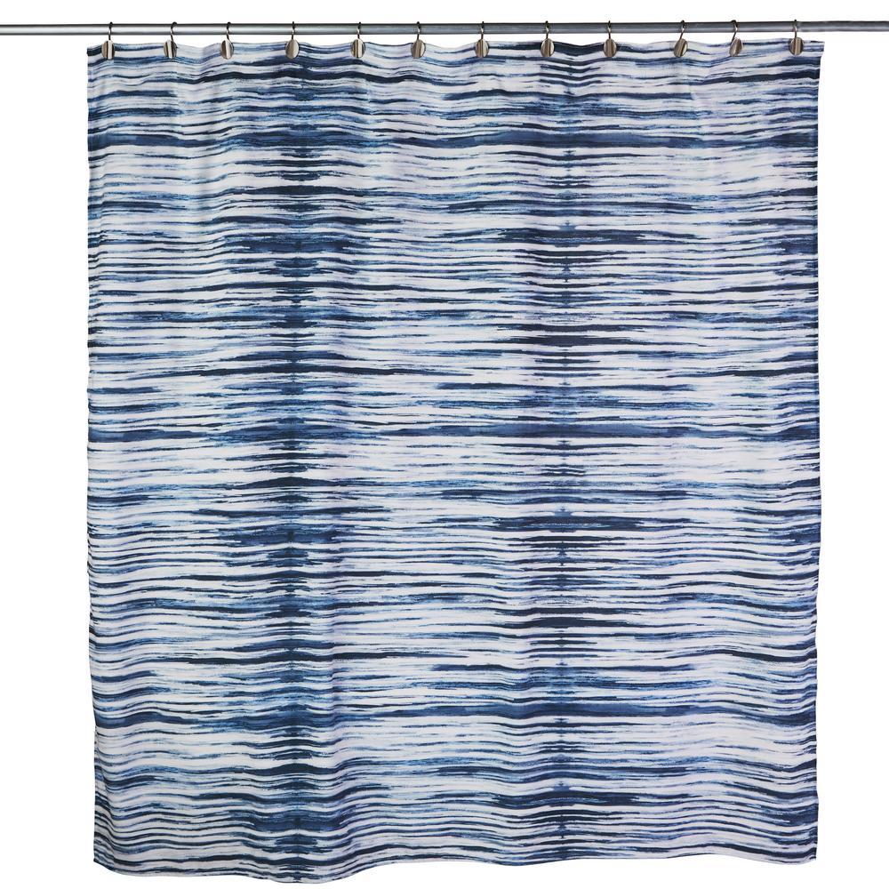 blue shower curtains shower