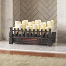 Home Decorators Collection Brindle Flame 20 in. Candle Electric Fireplace Insert with Infrared Heater