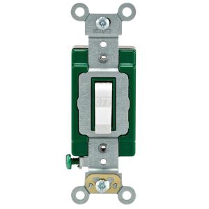 Leviton 30 Amp Industrial Double Pole Switch, WhiteR62030322WS  The Home Depot