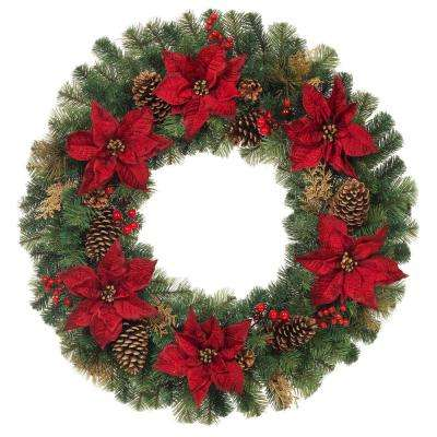 Christmas Wreaths Christmas Greenery The Home Depot
