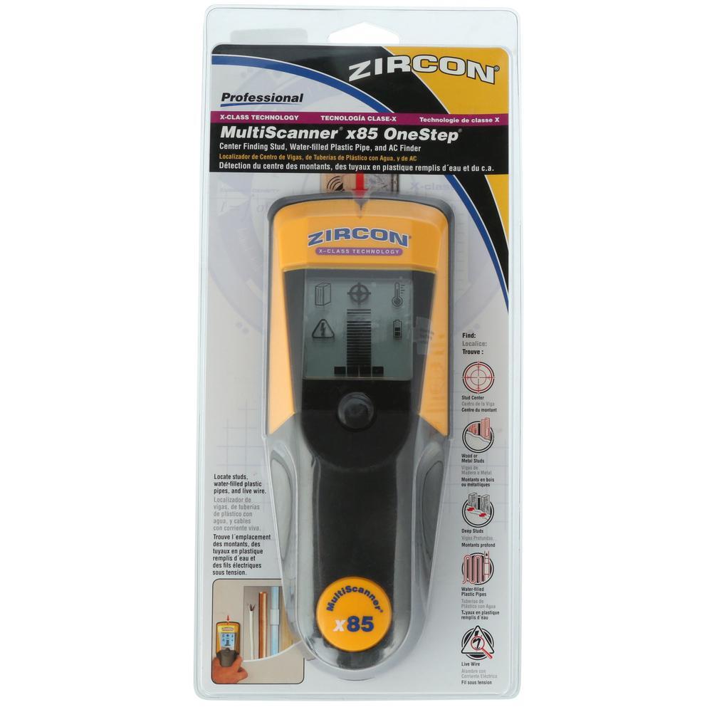 Zircon Multiscanner X85 Onestep Stud Finder 65180 The Home Depot