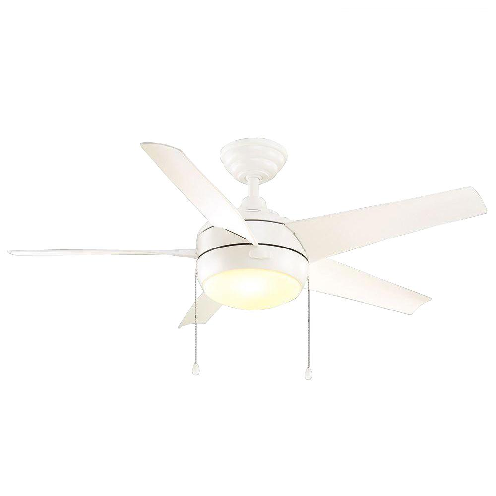 Home Decorators Collection Windward 44 In Led Indoor Matte White. Indoor  Brushed Nickel Ceiling Fan ...