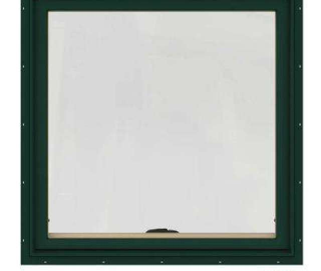 W  Series Green Painted Clad Wood Awning