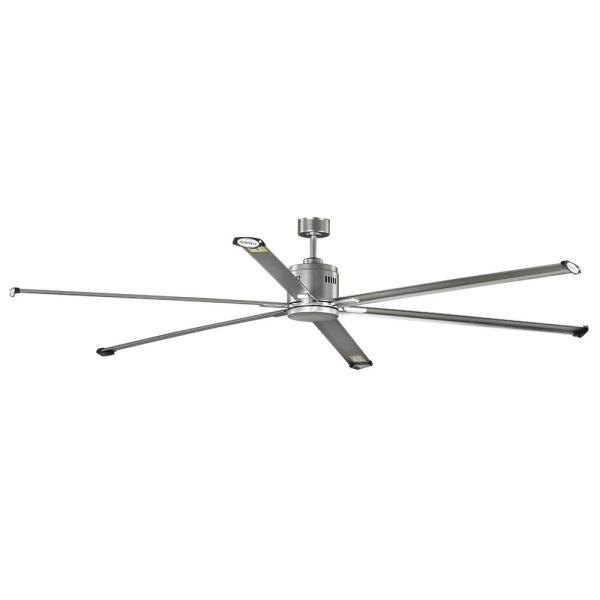 Hubbell Lighting Hubbell Industrial 96 In Indoor Outdoor Nickel Dual Mount Ceiling Fan With Wall Control P250018 152 The Home Depot