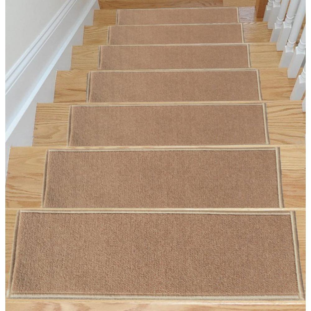 Carpet Stair Treads Non Slip Set Of 7 Step Hardwood Stair   Non Slip Carpet Stair Nosing
