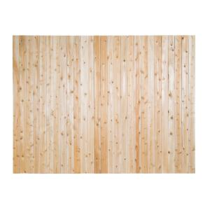 6 Ft H X 8 Ft W Privacy Eastern White Cedar Moulded 4 In Flat Top Picket Fence Panel