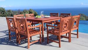 Vifah Malibu 9 Piece Square Patio Dining Set V1401SET14