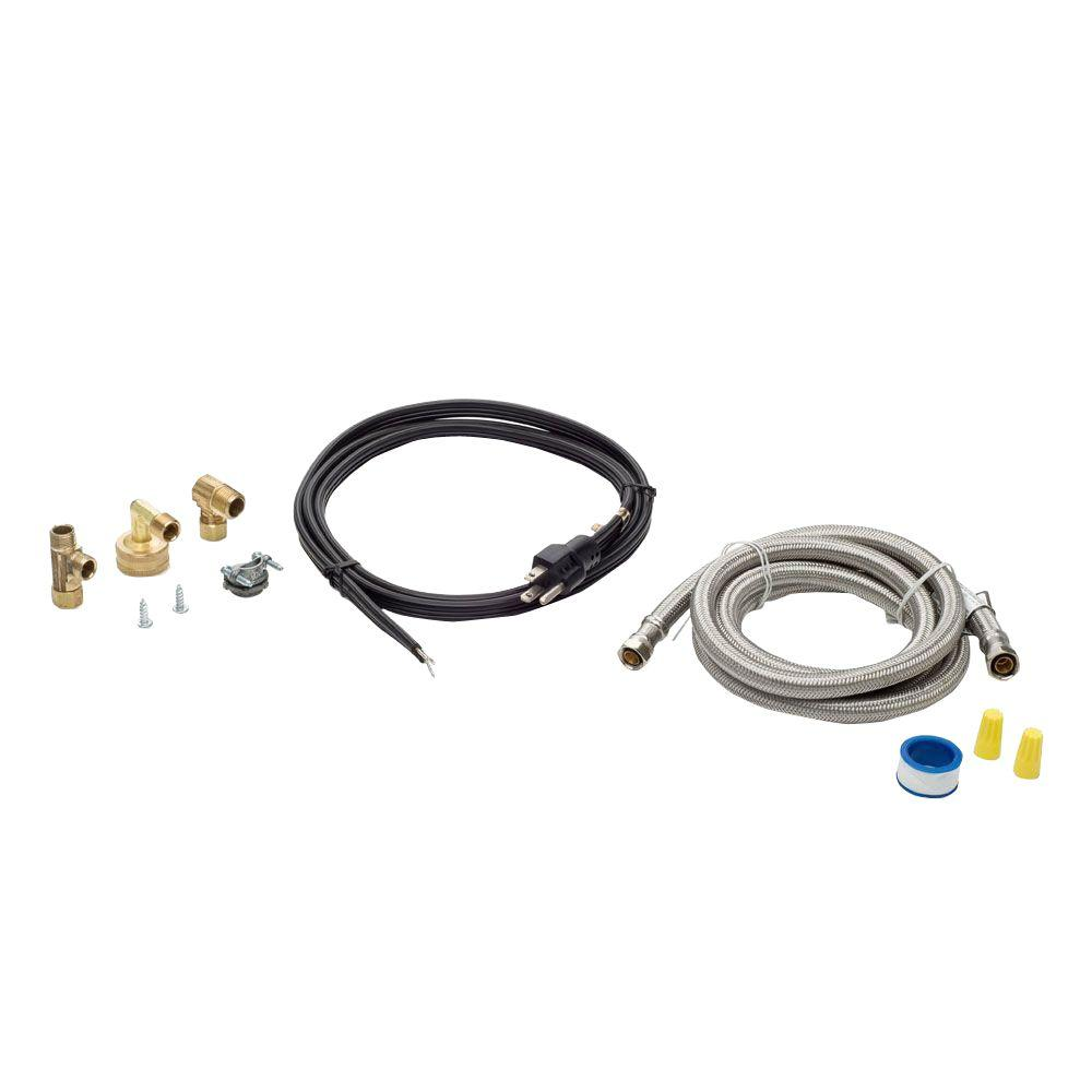 Smart Choice 6 Ft Stainless Steel Dishwasher Installation Kit