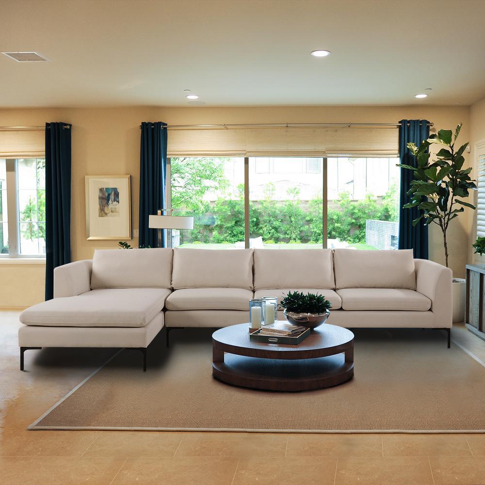 beige sectionals living room