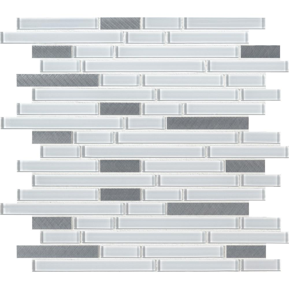 gray glass mosaic tile backsplash floor