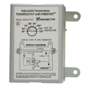 Ventamatic Cool Attic 10Amp Programmable Thermostat with