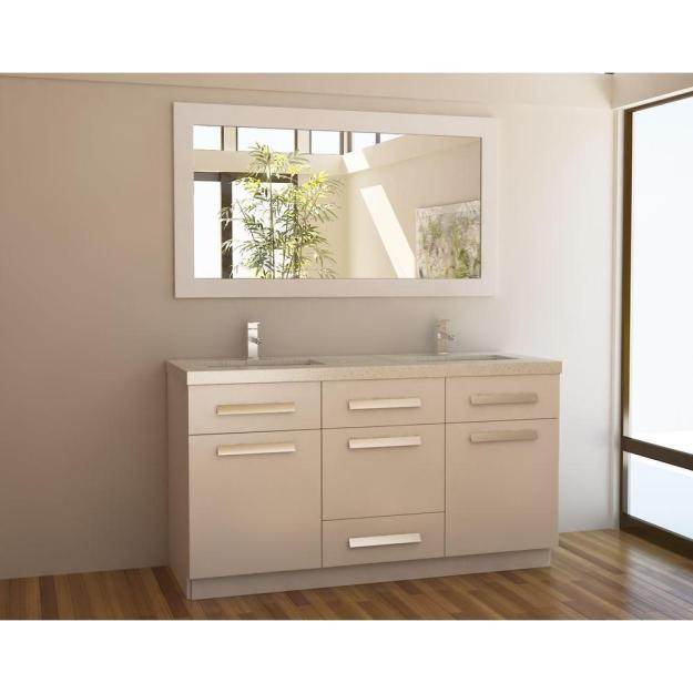 design element moscony 60 in. w x 22 in. d double vanity in white