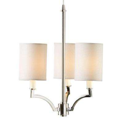 3 Light Brushed Nickel Small Instant Chandelier