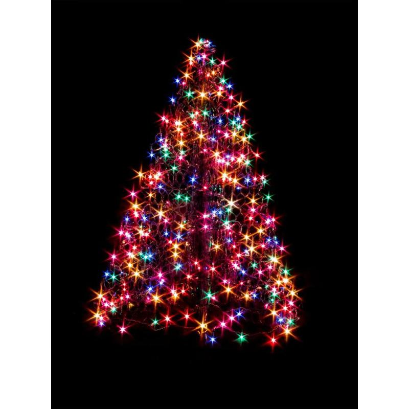 Crab Pot Trees 4 Ft Indoor Outdoor Pre Lit Led Artificial Christmas Tree