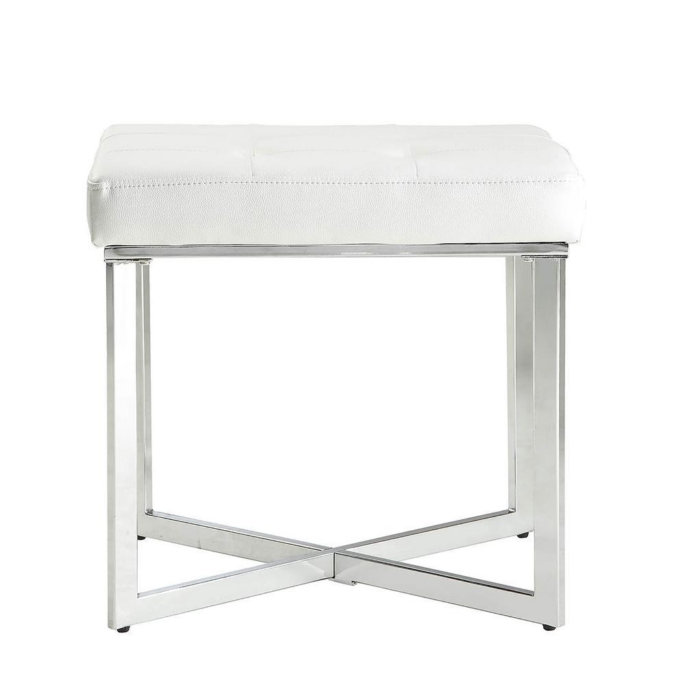 carolina cottage summer white tufted vanity bench vb2016 whtchr the home depot