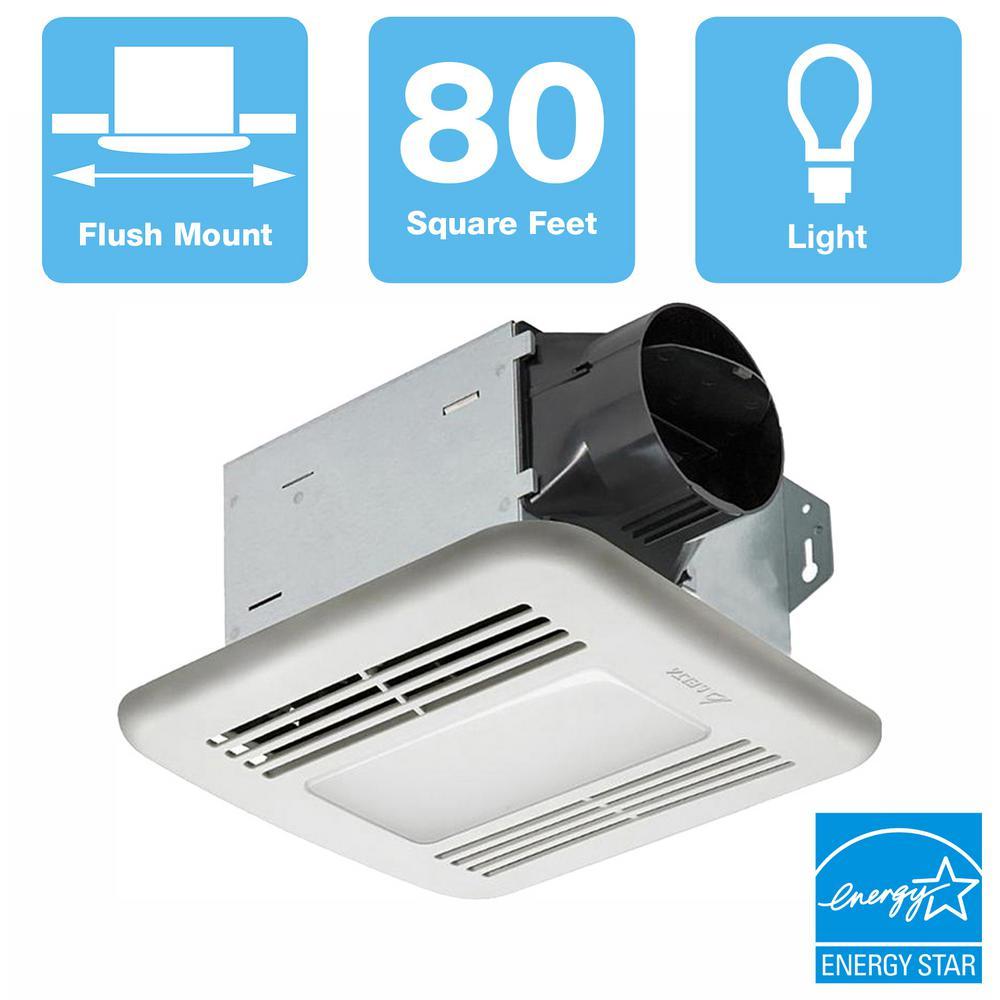 Delta Breez 80 Cfm Ceiling Bathroom Exhaust Fan With Dimmable Led