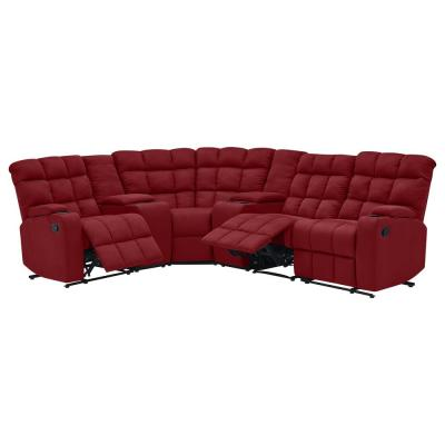 red sectionals living room