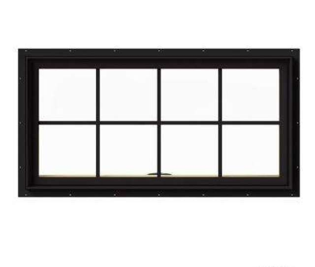W  Series Black Painted Clad Wood Awning