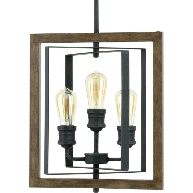 Home Decorators Collection Palermo Grove 3 Light Gilded Iron Pendant