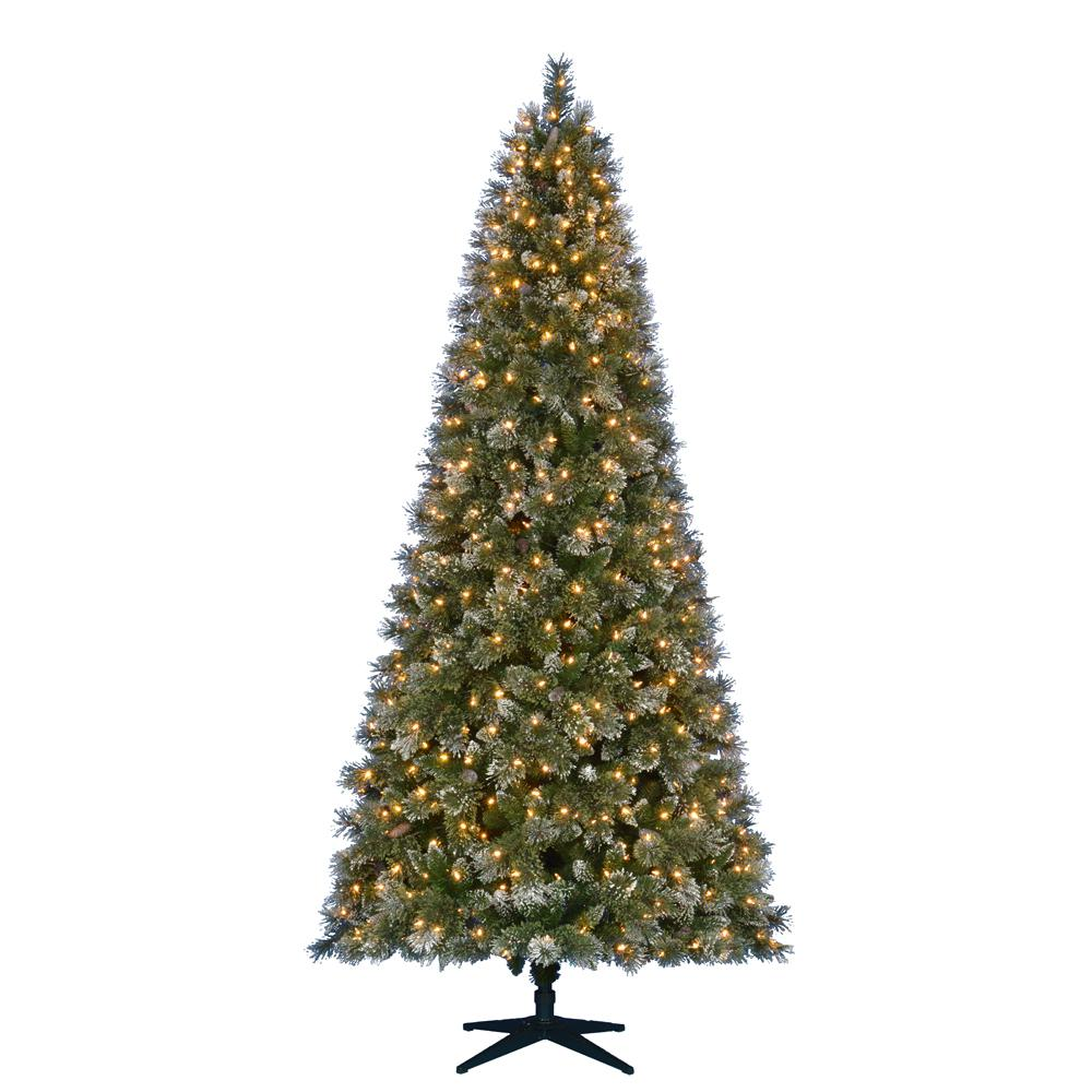 Martha Stewart Living 9 Ft Pre Lit LED Sparkling Pine