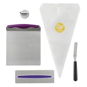 Wilton Cake Decorating Kit for Beginners with Lifter  Spatula  Icing     Wilton Cake Decorating Kit for Beginners with Lifter  Spatula  Icing  Tip Smoother and Disposable Decorating Bags 2104 3641   The Home Depot