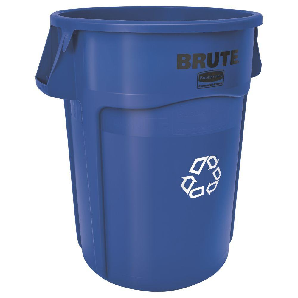 Best Kitchen Gallery: Rubbermaid Mercial Products Brute 32 Gal Blue Vented Recycling of 30 Gallon Recycling Container Home on rachelxblog.com