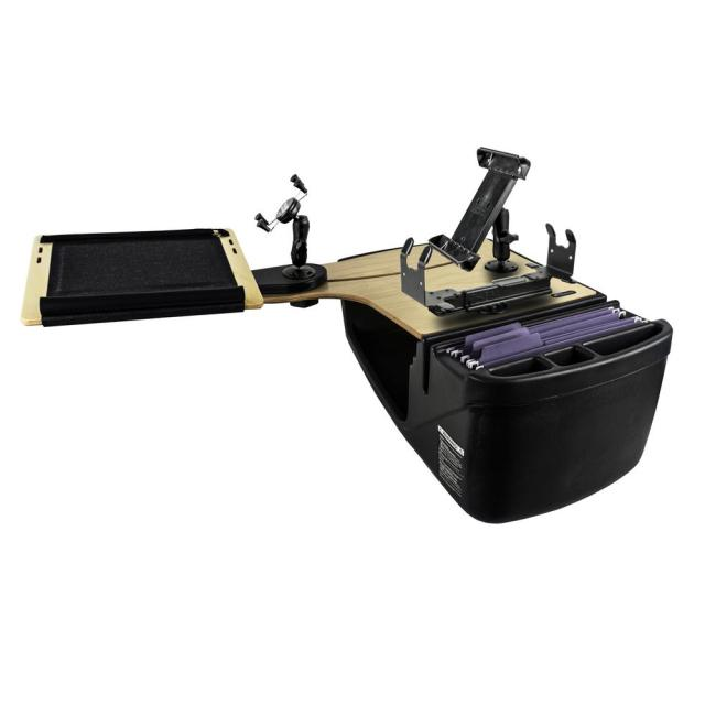 Reach Desk Back Seat Elite With Built In Power Inverter X Grip Phone Mount Tablet Mount And Printer Stand