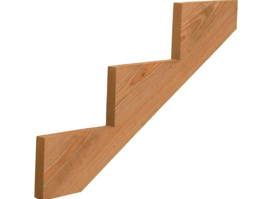 3 Step Pressure Treated Cedar Tone Pine Stair Stringer 211690   Premade Steps For Outside   Handrail   Wood   Stair Railing   Deck   Wooden