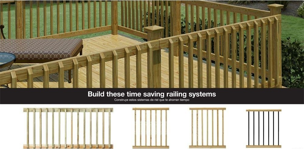 Weathershield 42 In X 2 In Pressure Treated Beveled 1 End | Home Depot Railing Spindles | Redwood Deck | Stair Railing | Pressure Treated Lumber | Fence | Stair Parts