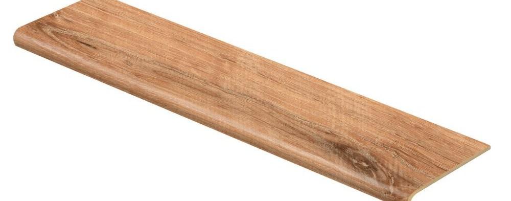 Cap A Tread Fresh Oak Elk Wood 47 In Length X 12 1 8 In Deep X 1 | Wood Look Vinyl Stair Treads | Shaw Floors | Laminate Flooring | Roppe | Tile | Vinyl Flooring