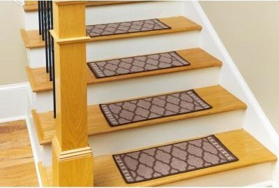 Tile Stair Tread Covers Rugs The Home Depot   Carpet Tiles For Stairs Home Depot   Stair Runner   Eurotile   Stainless Steel   Stair Tread   Beige Carpet