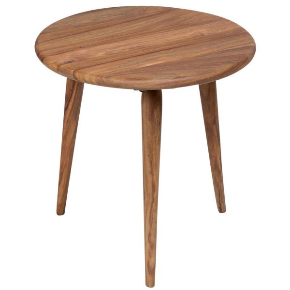 urban mid century modern sheesham wood round end table