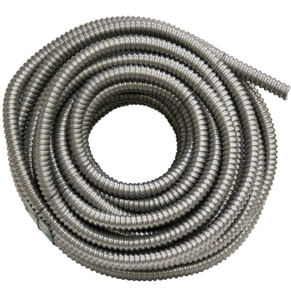 Wiring Conduit Home Depot   DIY Wiring Diagrams     afc cable systems 3 4 x 100 ft flexible aluminum conduit 5603 30 rh  homedepot com Outdoor Wiring Conduit PVC Conduit Wiring