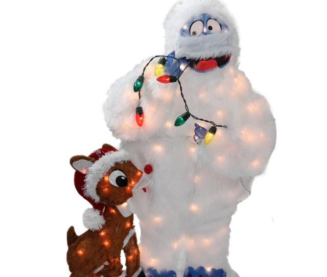 Christmas Pre Lit Peanuts Rudolph And Bumble