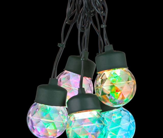 Lightshow  Light Multi Color Round Projection String Lights With Clips
