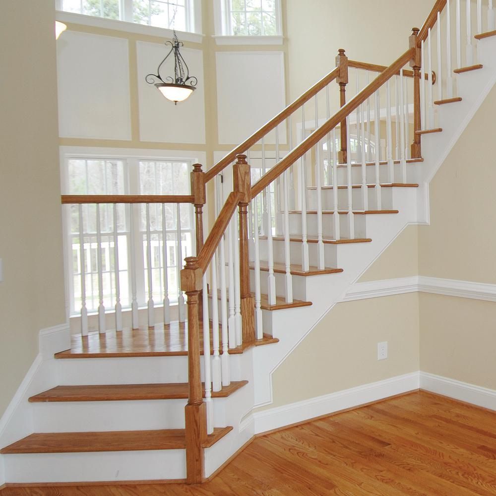 Stair Parts 6010 14 Ft Unfinished Red Oak Stair Handrail 6010R | Wood Stair Railings Interior | Cable Stair Railing | Timeless | Before And After | Colonial | 2Nd Floor