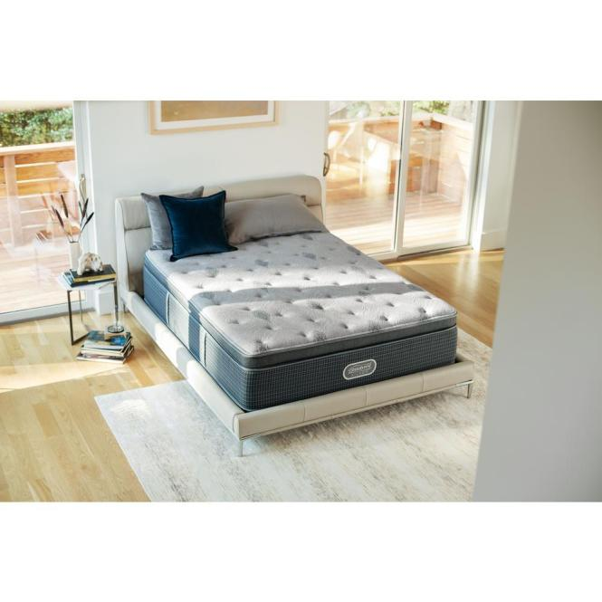 Beautyrest Silver Santa Barbara Cove Full Luxury Firm Low Profile Mattress Set 700753240 9830 The Home Depot