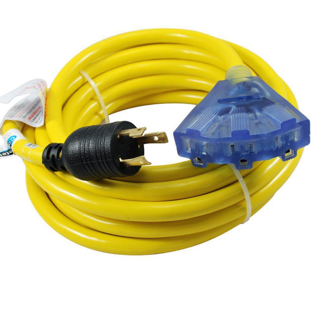 Conntek 25 Ft 10 3 30 Amp 125 Volt L5 30p Locking Plug To
