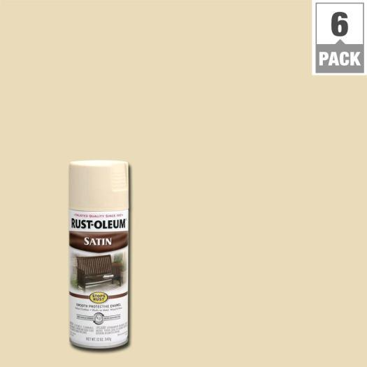 Rust Oleum Stops 12 Oz Protective Enamel Satin Almond Spray Paint 6