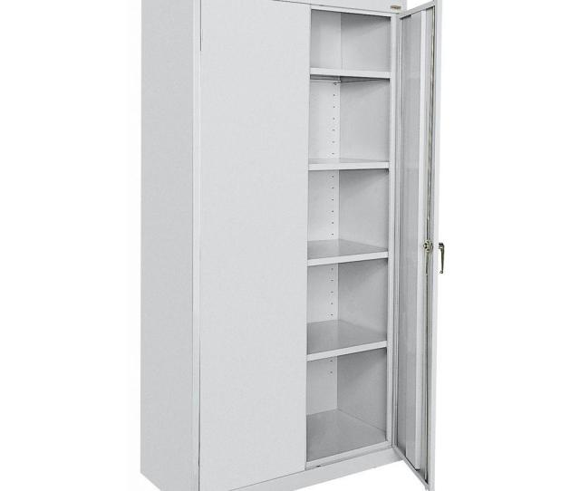 Classic Series 72 In H X 36 In W X 18 In D Steel Frestanding Storage Cabinet With Adjustable Shelves In Dove Gray
