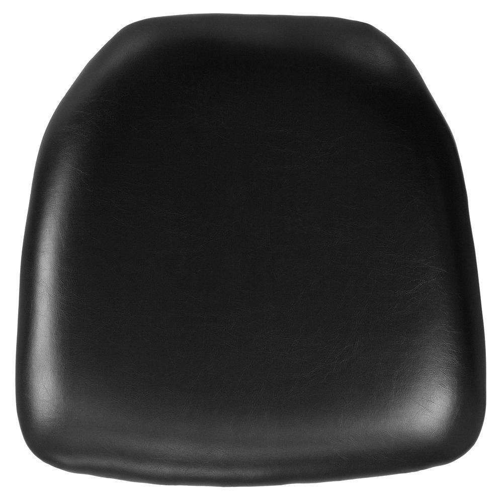 hard black vinyl chiavari chair cushion
