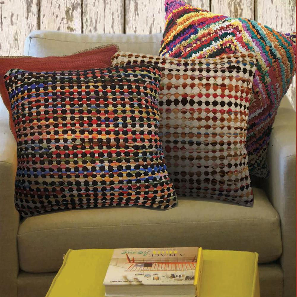 LR Resources Rana Black And Multi Throw Pillow PILLO07278BLKFFPL The Home Depot