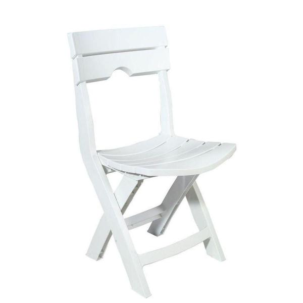 Adams Manufacturing Quik Fold White Resin Plastic Outdoor Lawn Chair     Adams Manufacturing Quik Fold White Resin Plastic Outdoor Lawn Chair