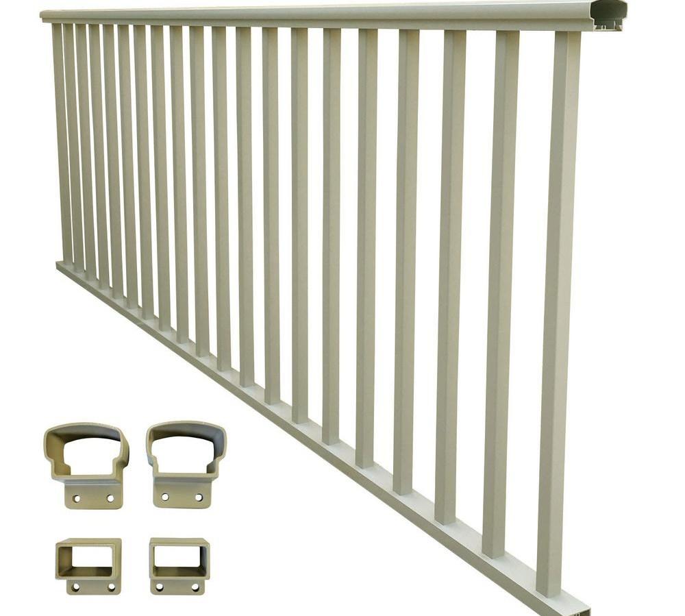Ez Handrail The Home Depot   Metal Handrail Home Depot   Wood   Stair Railings   Aluminum Railing   Outdoor Handrails   Staircase