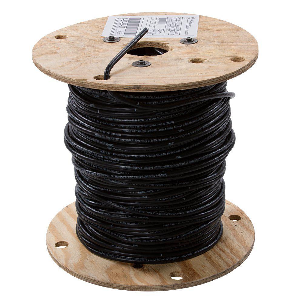 Southwire 500 Ft 2 Black Stranded Al Xhhw Wire