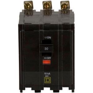 Square D QO 30 Amp 3Pole BoltOn Circuit BreakerQOB330
