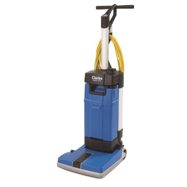 Floor Scrubbers   Polishers   Hard Surface Cleaners   The Home Depot MA10 12E Upright Floor Scrubber with Off Aisle and Carpet Kit