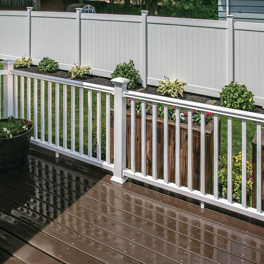 Veranda Traditional 6 Ft X 36 In White Polycomposite Rail Kit | Veranda Traditional Stair Railing | Ebay | Porch Railing | Porch Deck | Deck Stair | Composite Decking