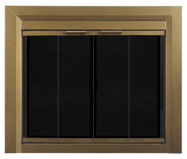 Carrington Small Glass Fireplace Doors