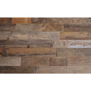 Reclaimed Barn Wood Brown Natural 3 8 in  T x 5 5 in  W x Varying     Reclaimed Barn Wood Brown Sealed 3 8 in  Thick x 5 5 in  Width